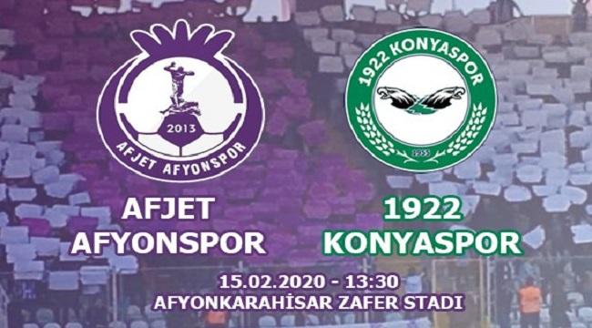 AFJET AFYONSPOR'UN BU HAFTAKİ RAKİBİ 1922 KONYASPOR