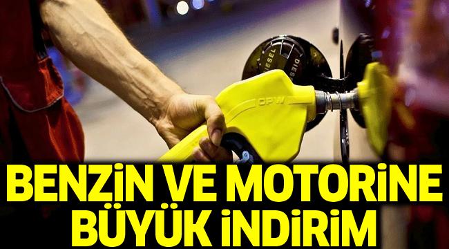BENZİN VE MOTORİNE İNDİRİM!..