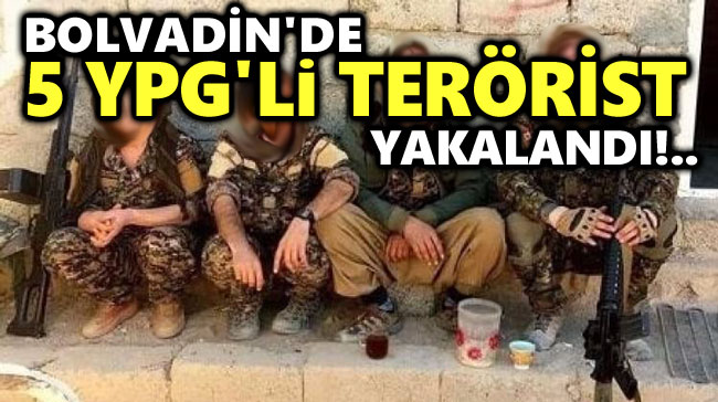 BOLVADİN'DE DAĞ KADROSUNA MENSUP 5 YPG'Lİ YAKALANDI!..