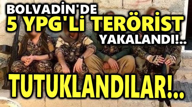 BOLVADİN'DE GÖZALTINA ALINAN 5 YPG'Lİ TERÖRİST TUTUKLANDI
