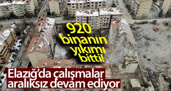 ELAZIĞ'DA 920 BİNANIN YIKIMI TAMAMLANDI