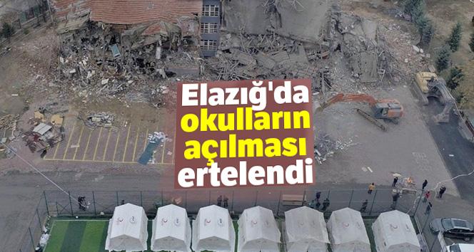 ELAZIĞ'DA OKULLARIN AÇILMASI 17 ŞUBAT'A ERTELENDİ