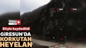 GİRESUN'DA HEYELAN
