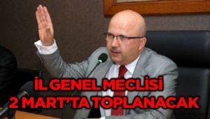 İL GENEL MECLİSİ 2 MART'TA TOPLANACAK