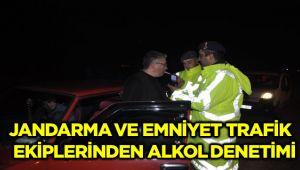 JANDARMA VE EMNİYET TRAFİK EKİPLERİNDEN ALKOL DENETİMİ