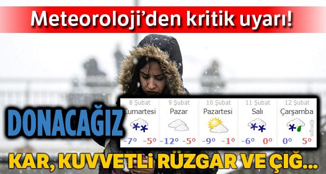 METEOROLOJİ UYARDI: EKSİ 12'Yİ GÖRECEĞİZ!..