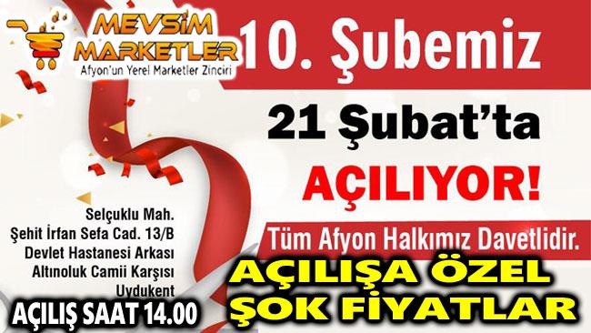 MEVSİM MARKETLER'DEN UYDUKENT'TE AÇILIŞA ÖZEL ŞOK KAMPANYA!..