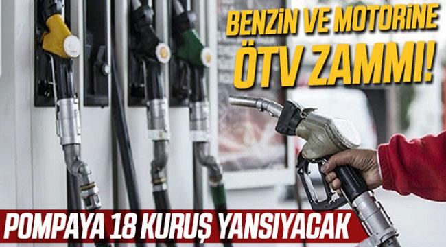 MOTORİNE UYGULANAN ÖTV'YE YÜZDE 6.31 ZAM