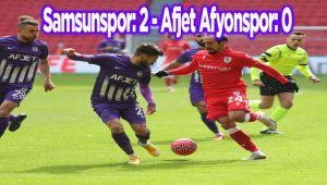 AFJET AFYONSPOR, DEPLASMANDA YENİLDİ:2-0