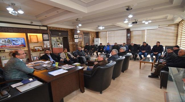 SAZAK MAHALLE SAKİNLERİ BAŞKAN MUSTAFA ÇÖL'Ü ZİYARET ETTİ