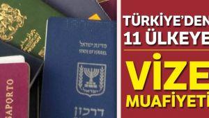 11 ÜLKEYE VİZE MUAFİYETİ RESMİ GAZETE'DE