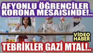 AFYONLU TEKNİK LİSE ÖĞRENCİLERİ KORONA MESAİSİNDE!..