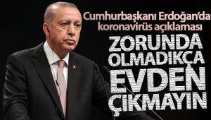 CUMHURBAŞKANI ERDOĞAN'DAN KORONAVİRÜS AÇIKLAMASI!