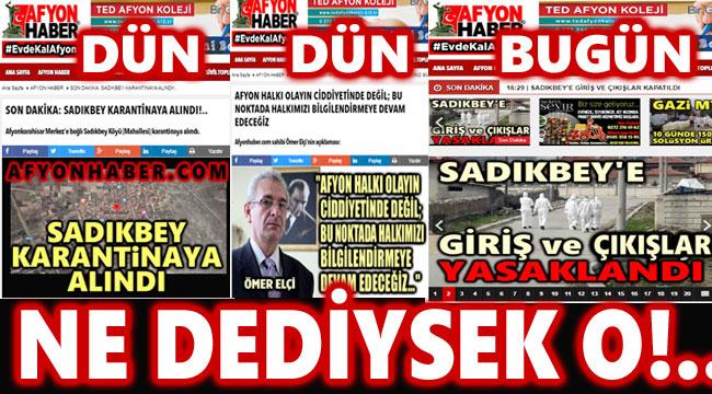 HABERİ DÜN İLK KEZ AFYONHABER'DEN OKUMUŞTUNUZ: NE DEDİYSEK O!..