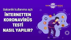 İNTERNETTEN KORONAVİRÜS TESTİ