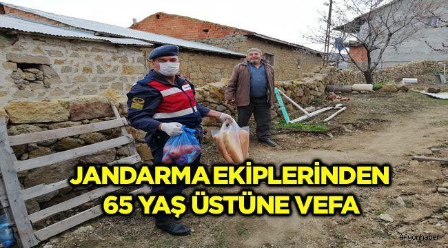 JANDARMA EKİPLERİNDEN 65 YAŞ ÜSTÜNE VEFA