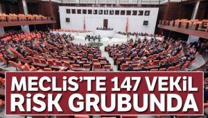 MECLİS'TE 147 VEKİL RİSK GRUBUNDA