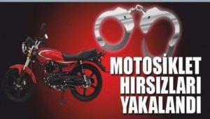 MOTOSİKLET HIRSIZLARI YAKALANDI