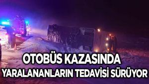 OTOBÜS KAZASINDA YARALANANLARIN TEDAVİSİ SÜRÜYOR