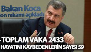 SON DURUM: CAN KAYBI 59, VAKA SAYISI 2433
