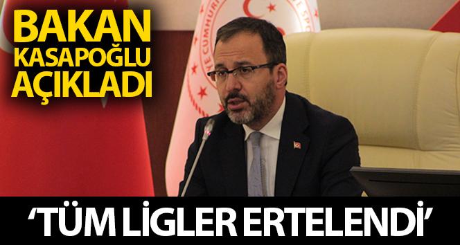 TÜM LİG MAÇLARI ERTELENDİ!..
