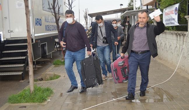 AFYON'DA KARANTİNA ALTINA ALINAN 511 KİŞİ MEMLEKETLERİNE GÖNDERİLDİ