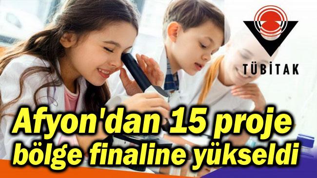 AFYON'DAN 15 PROJE TÜBİTAK ORTAOKULLARDA BÖLGE FİNALİNDE