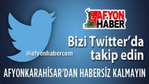 AFYONHABER'İ TWITTER'DAN TAKİP EDİN