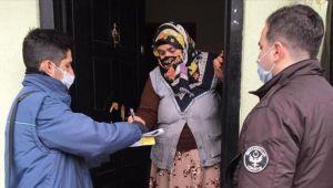 AFYONKARAHİSAR'DA SOSYAL DESTEK ÖDEMELERİ EVLERE TESLİM EDİLİYOR