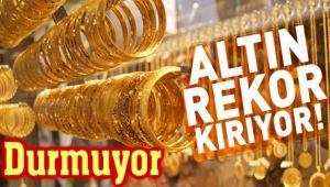 ALTIN, REKOR KIRMAYA DEVAM EDİYOR