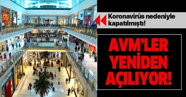 AVM'LER, 8-15 MAYIS TARİHLERİ ARASINDA KAPILARINI AÇMAYA HAZIRLANIYOR
