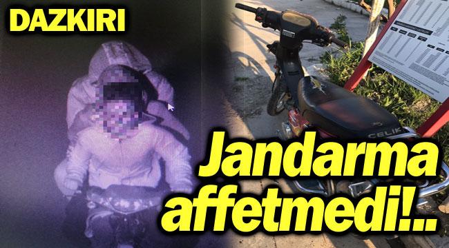 JANDARMA MOTOSİKLETLİ ÇETEYİ AFFETMEDİ!..
