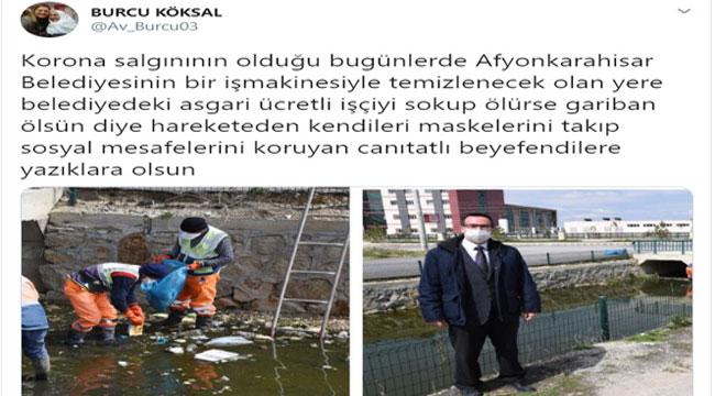 MİLLETVEKİLİ KÖKSAL'DAN BELEDİYE'YE TEPKİ