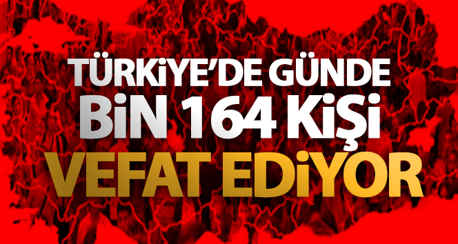 TÜRKİYE'DE GÜNDE BİN 164 KİŞİ VEFAT EDİYOR