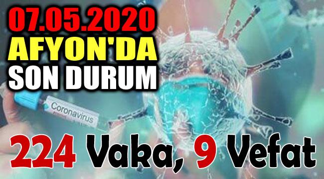 07.05.2020 AFYON'DA COVİD-19'DA SON DURUM