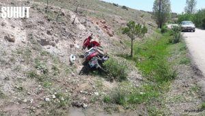 AFYONKARAHİSAR'DA MOTOSİKLET KAZASI