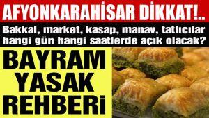 BAYRAM TATİLİ YASAK REHBERİ!..