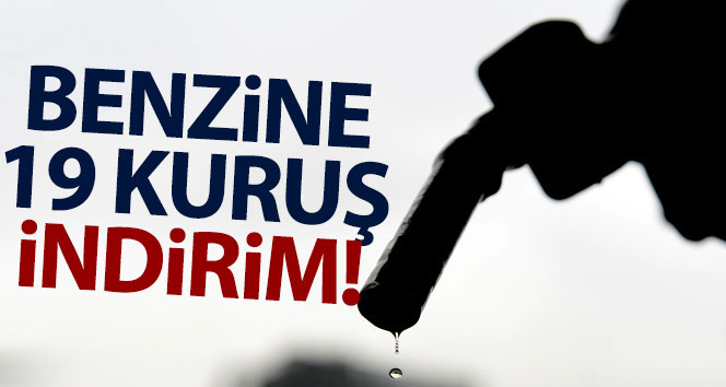 BENZİNE 19 KURUŞ İNDİRİM!..