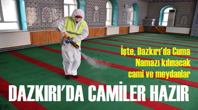 DAZKIRI'DA CAMİLER İBADETE HAZIR!..