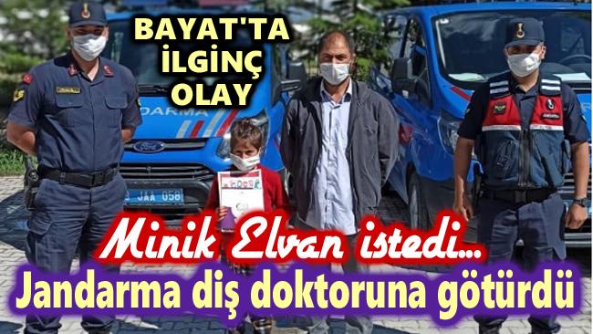 JANDARMA, MİNİK ELVAN'IN İSTEĞİNİ KIRMADI!..