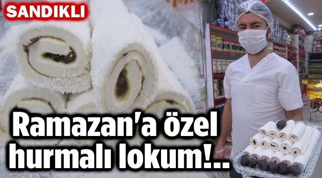 RAMAZAN'A ÖZEL HURMALI LOKUM ÜRETTİ!..