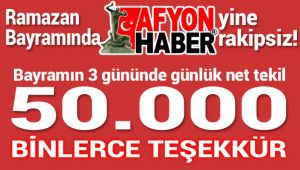 RAMAZAN BAYRAMINDA DA AFYONHABER RAKİPSİZ KALDI!..