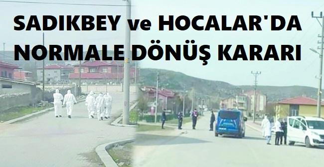 SADIKBEY VE HOCALAR'DA NORMALE DÖNÜŞ KARARI!..