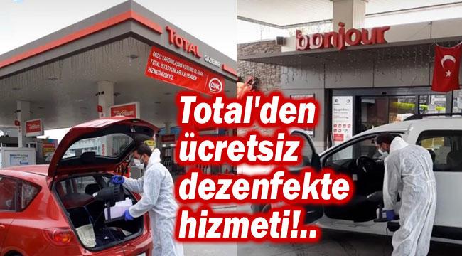 TOTAL'DEN ÜCRETSİZ ARAÇ DEZENFEKSİYON HİZMETİ!..