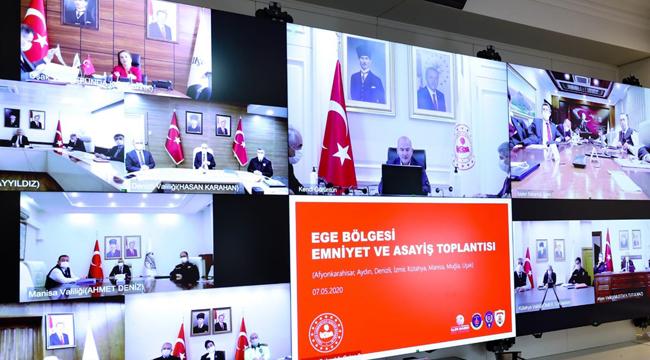 VALİ TUTULMAZ, EGE BÖLGESİ EMNİYET TOPLANTISINA KATILDI