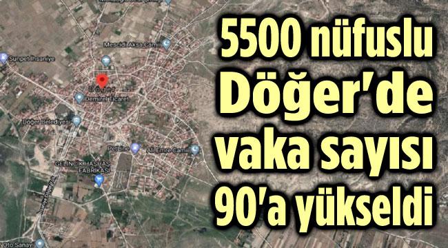 5500 NÜFUSLU DÖĞER'DE VAKA SAYISI 90'A YÜKSELDİ
