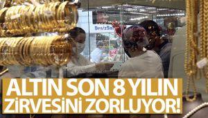 ALTIN, SON 8 YILIN ZİRVESİNE YÜKSELDİ