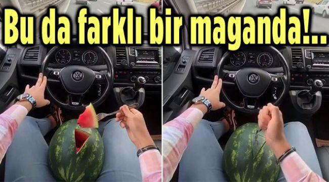 BU DA KARPUZLU TRAFİK MAGANDASI!..