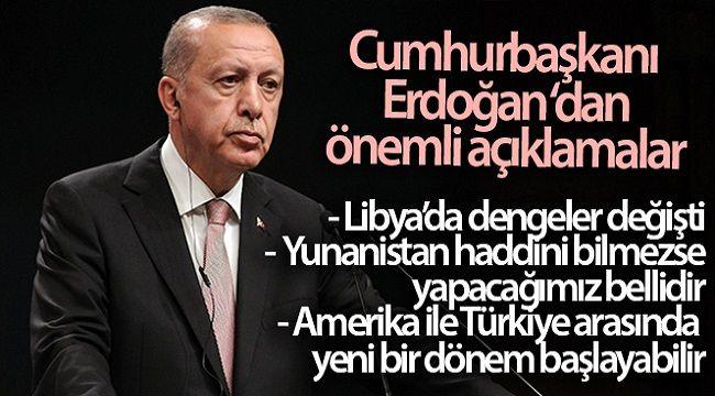 CUMHURBAŞKANI ERDOĞAN'DAN ÇOK ÖNEMLİ AÇIKLAMALAR!