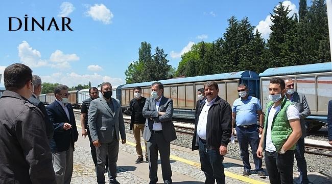 DİNAR'A TREN SEFERLERİ BAŞLIYOR